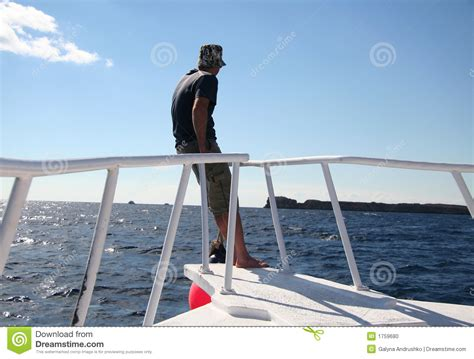yacht man man on the sailing boat stock photo image 1759680