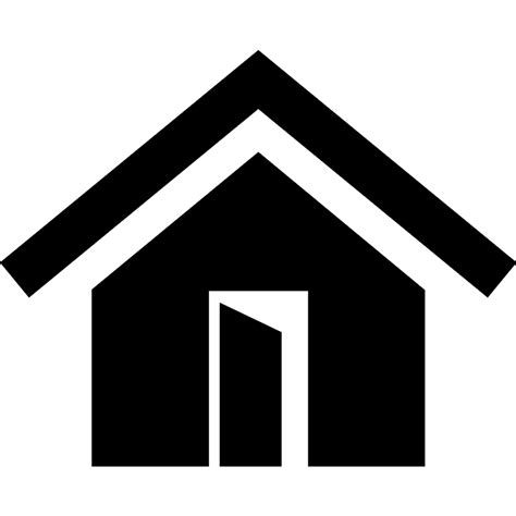 real estate business symbol of a house with owner on a