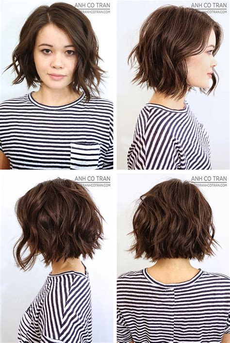 haircut bob wavy hair brown wavy bob hairstyles outstanding haircuts haircut