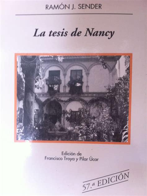 la tesis de nancy ramon j sender editorial blog de salva carnicero aprende salvacarni16