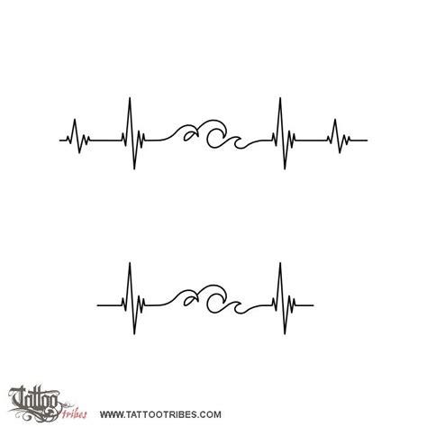 wave heartbeat tattoo tatuaggio di minimals onde battito cuore