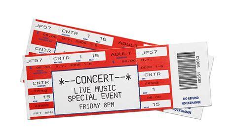 concert ticket template concert tickets gold coast tickets
