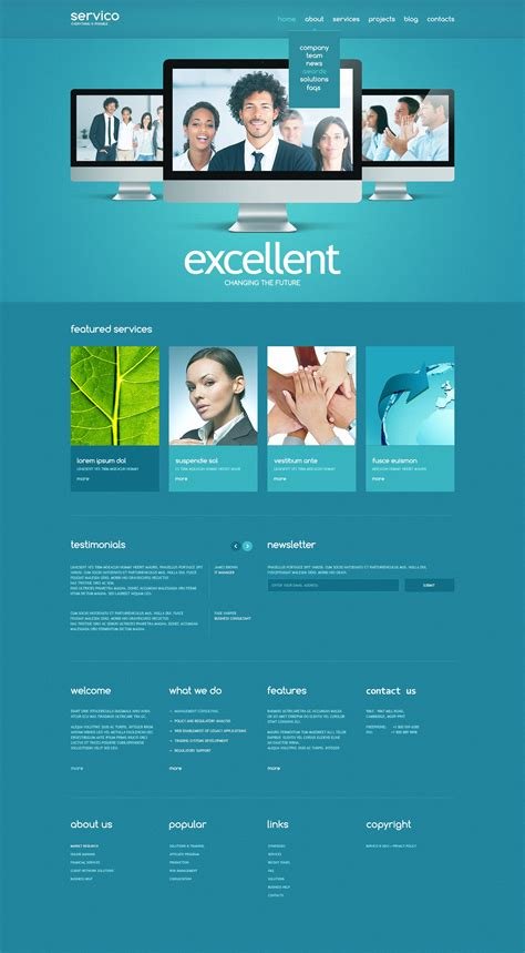 responsive website templates for quiz consulting responsive website template 43361