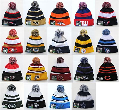 Beanies Buy 1 Get 23 nfl sports knit pom top cuffed beanie winter cap hat