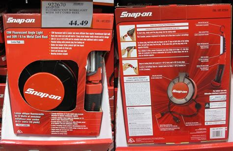 snap on retractable work light garage mods retractable cord reel