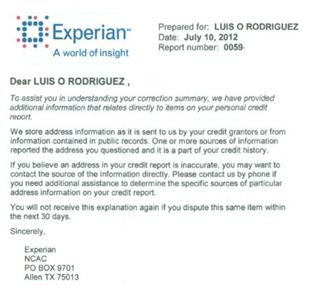 Credit Dispute Letter Template Experian how to get the big boys help in deleting credit errors