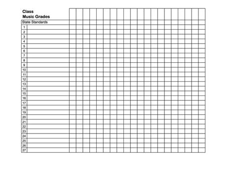 grade sheet template search results for free printable grade book