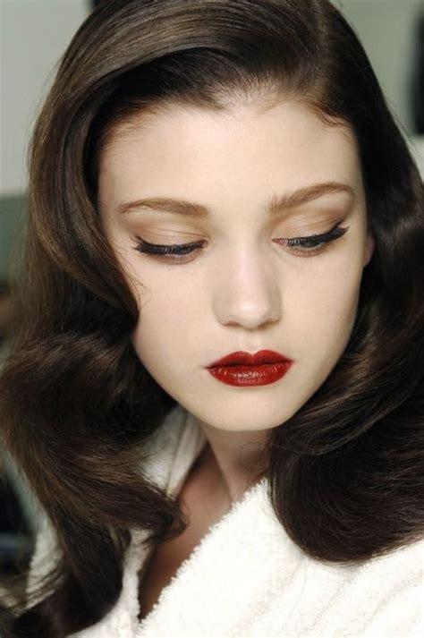 hairstyles for black hair pale skin beautiful pale skin dark hair red lip mane and makeup