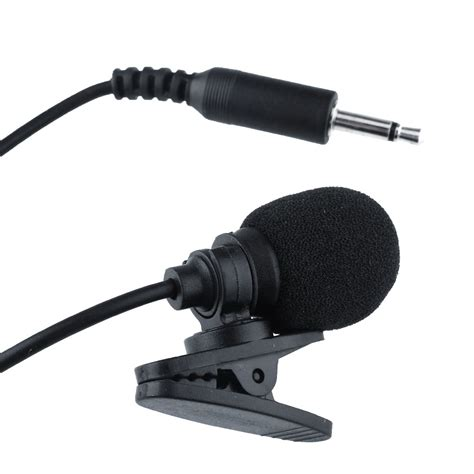 3 5mm Mic With Clip clip on lapel mic microphone 3 5mm mp4 cellphone