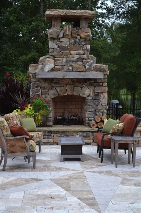 Outdoor Patio With Fireplace by 53 Most Amazing Outdoor Fireplace Designs