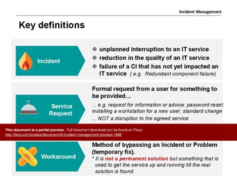 itil incident management policy template gallery of incident plan template incident