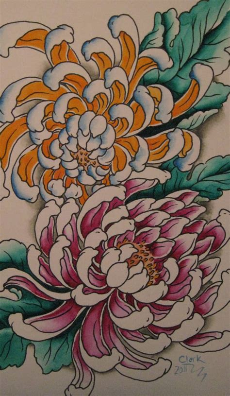 chrysanthemum flower tattoo designs 43 wonderful chrysanthemum tattoos
