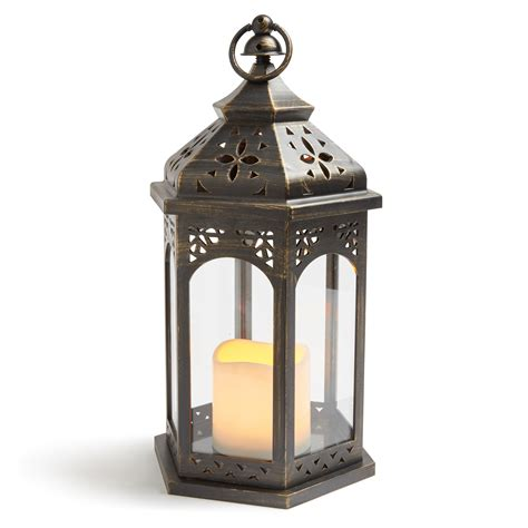 blooma matt black battery operated outdoor moroccan