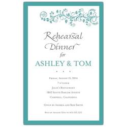 rehearsal dinner invitation vine turquoise rehearsal dinner invitations paperstyle