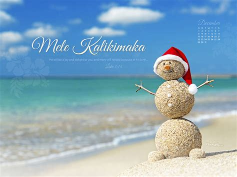 december  mele kalikimaka desktop calendar  december wallpaper merry christmas