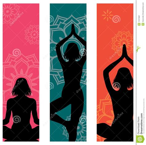 banner design for yoga yoga banners royalty free stock photography image 11973987