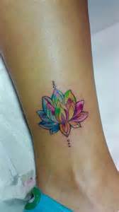 color flower tattoos colored lotus flower aquarela tecnique flower