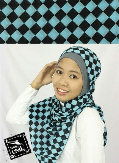 Tempat Tisu Panjang Catur pasmina sifon motif catur obral batik murah batikunik