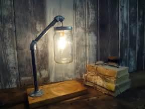 industrial rustic lighting jar desk l industrial l jar light