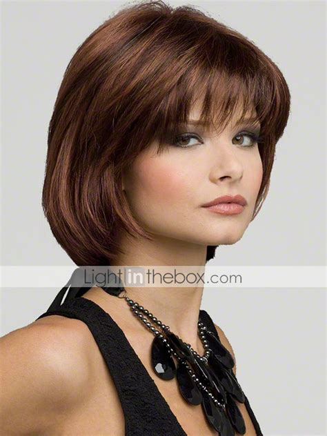large bobos hairstyle pics fashion natural short brown bobo wigs 100 kanekalon wig