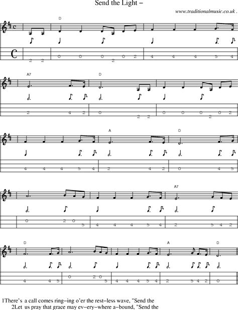 Send The Light Lyrics by American Time Scores And Tabs For Mandolin Send The Light