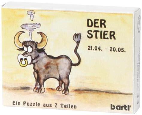 Wassermann Und Stierfrau by Sternzeichen Stier Legepuzzle 7 Teile Holz