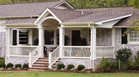 front porch on ranch style home front porch designs for brick homes decoto
