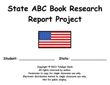 abc book report state abc book research report project by tolu noah edd tpt