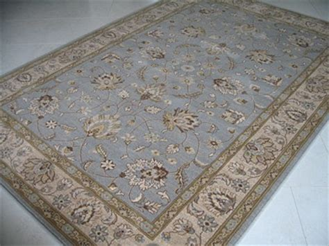 duck egg blue wool rug contemporary afghan ziegler style duck egg blue beige wool rug 1 5 x 0 9m ebay