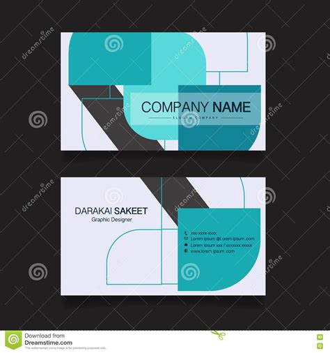 name card template vector name card modern simple business card template vector