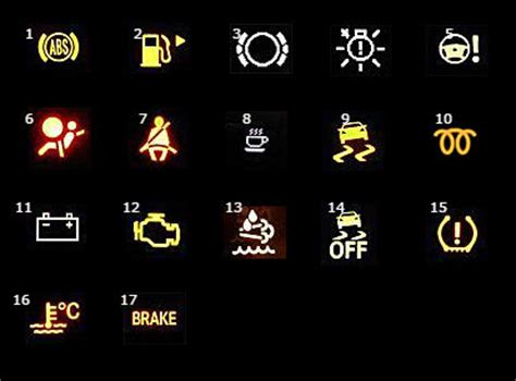 mercedes brake light warning what are the different mercedes dashboard warning lights