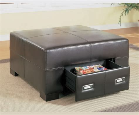 leather ottoman with drawers spencer square with drawers ottoman