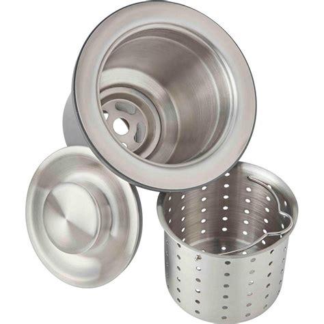 Sink Drain Baskets by Elkay 3 5 In Kitchen Sink Drain With Strainer Basket