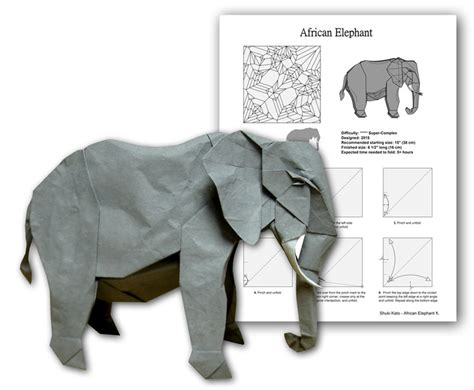 Origami Elephant Pdf - el 233 phant de shuki kato
