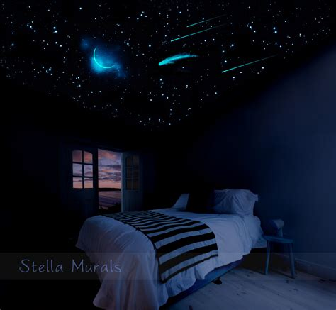 glowing stars for bedroom glow in the dark star ceiling 400 1000 glow star stickers