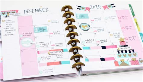 the happy planner two december monthly layouts me