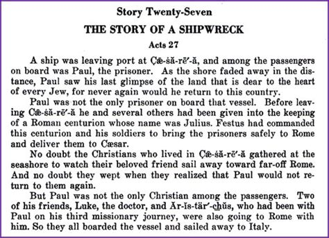 the story of a the story of a shipwreck paul story kids korner biblewise