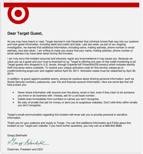 Explanation Letter For Not Achieving Target Target Issues Apology Letter But Includes Some Awful Security Advice Security