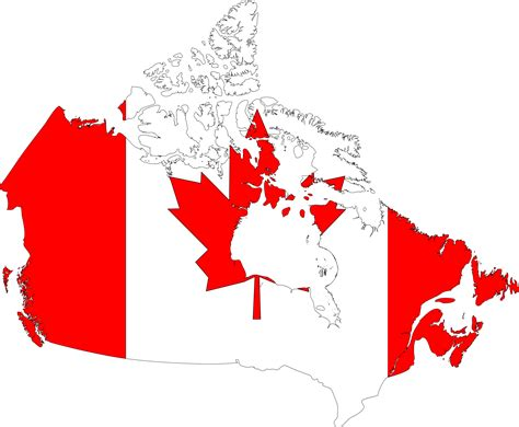 clipart canada map flag