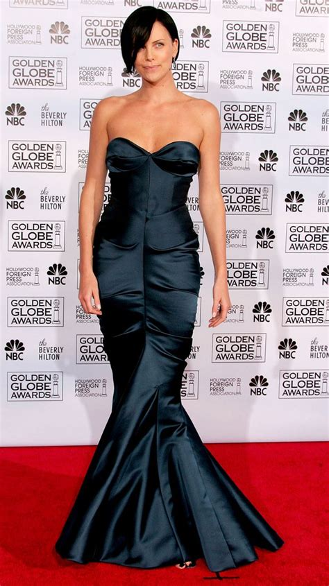 The Look For Less Charlize Therons 2005 Golden Globes Dress by Our Favourite Golden Globes Dresses Of All Time Mirror