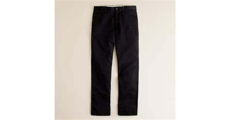 Cotton Lab Essential Chino Black j crew essential chino in 770 fit in black for lyst