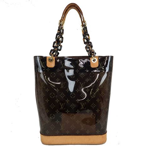 auth louis vuitton monogram vinyl  tote bag ebay
