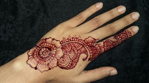 simple henna design youtube simple easy henna design dina henna youtube