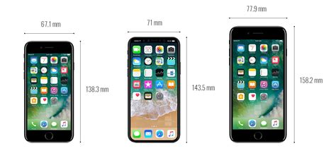 iphone 8 dimensions and size comparison vs iphone 7 galaxy s8 lg g6 pixel