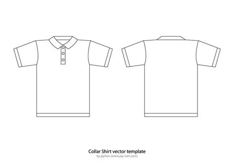 free polo shirt template t shirt templates collar t shirt or polo shirt template