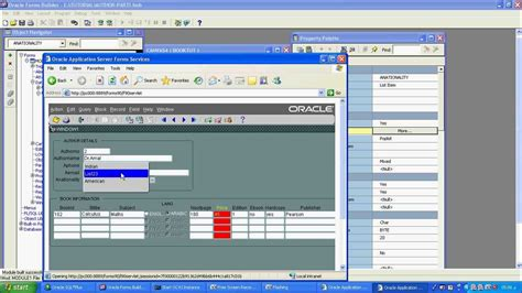 layout editor in oracle forms part 5 oracle 10g form builder using list item youtube