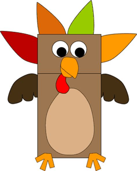 Brown Paper Bag Crafts For Preschoolers - paper bag turkey puppet