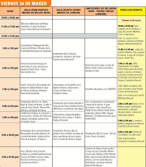 cronograma de actividades 2015 ii conoce el cronograma completo de actividades de filven