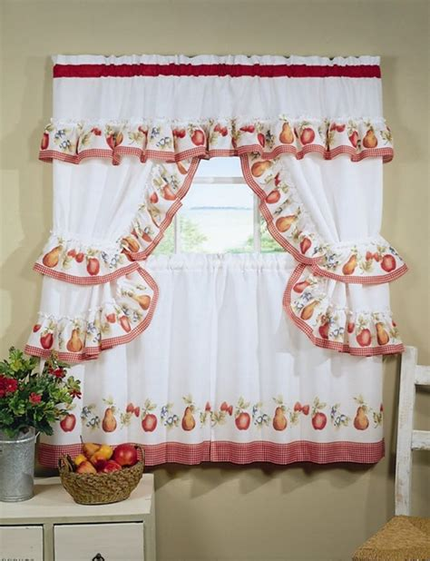 cherry kitchen curtains different curtain design patterns home designing