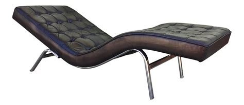 Black Leather Chaise Lounge Chair by Vintage Black Leather Chaise Lounge Chair Chairish